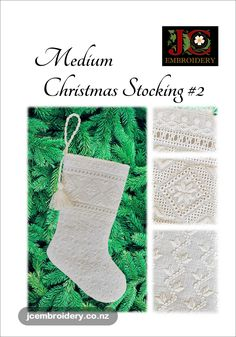 At top-to-toe, this stocking is stitched in Ukrainian Whitework style. Big enough to hold those special little items, but small enough to still hang on the tree or mantel. Top To Toe, Embroidery Techniques, Easy Projects, Christmas Stockings, Stitch, Big, Holiday Decor, Style, Needlepoint Christmas Stockings