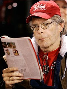 Scary as he may be - Stephen King has been spotted at several Red Sox games.