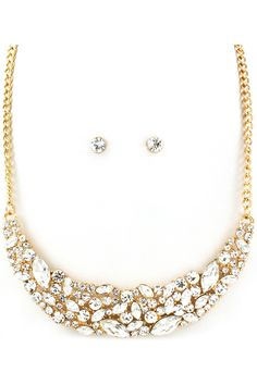 Tiffany Necklace Set in Gold//