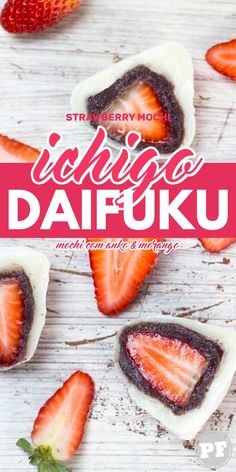 Ichigo Daifuku: Mochi com Anko e Morango por PratoFundo.com