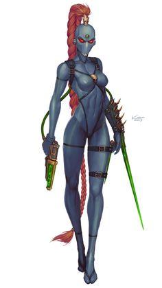 Callidus Assassin by Alexey Kropachev Female Character Concept, Character Art, Character Design, Character Ideas, Warhammer 40k, Warhammer Fantasy, Aliens, Space Opera, Cyberpunk Art