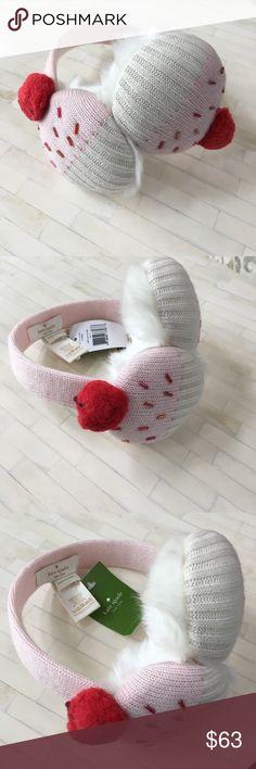 Kate Spade Cupcake Earmuffs kate spade new york knit earmuffs with cupcake motif. Faux-fur (acrylic/polyester) trim. Stretchy headband. Compact, fold-up design. Viscose/nylon/wool/cashmere. kate spade Accessories