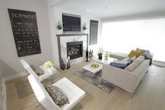 Calcutta Marble Fireplace (Property Brothers: Season 2, Episode 6)