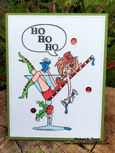 Digi image from Bugaboo Stamps.   Fun Christmas card.