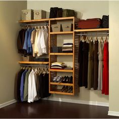 @Overstock - John Louis Deluxe Closet System - Organize your closet easily with the solid wood, honey maple finish of this deluxe John Louis closet system. Featuring multiple configuration options, this system is cut to fit any size closet up to 10 and will provide up to 22 of shelf space.  http://www.overstock.com/Home-Garden/John-Louis-Deluxe-Closet-System/2878003/product.html?CID=214117 Add to cart to see special price