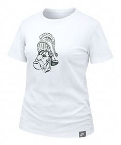 Michigan State Spartans Women's Nike Vault White Lived In Tee