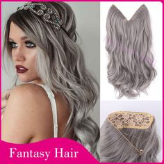 Find More Hair Weaves Information about 1 piece 20 inch grey silver hair no clip hair extension brazilian natural wave invisible synthetic halo hair extension flip in,High Quality silver hair ornaments,China hair bursh Suppliers, Cheap silver hair pin from Fantasy Hair on Aliexpress.com
