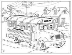 School Bus coloring - Free Printable Coloring Pages For Kids.Free Printable Coloring Pages For Kids. Free Kids Coloring Pages, Skull Coloring Pages, Colouring Pics, Cartoon Coloring Pages, Free Printable Coloring Pages, Coloring Pages For Kids, Coloring Sheets, Coloring Books, Castle Coloring Page