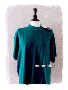 New Maggie McNaughton Plus Size 3X Knit Top Rib Sweater Short Sleeve Green NWT #MaggieMcNaughton #KnitTop #Casual