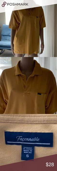 afdb2520f3015d FACONNABLE Men s polo shirt S FACONNABLE Men s polo shirt S. Beautiful  mustard color Worn once