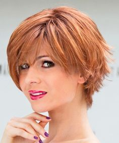 Amer Ladies Wig from the Stimulate Collection in colour Safran Red Rooted | Monofilament Wig | Valentine Wigs
