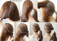 Lovely hair style for party