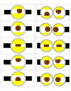 Minion Eyes Printable | despicable me templates | Despicable Me Minion Eye Template made by ...