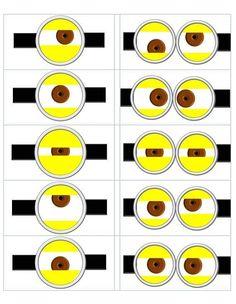 Minion Eyes Printable | despicable me templates | Despicable Me Minion Eye Template made by ...