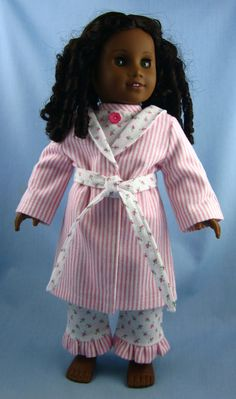American Girl Doll Clothes   Flannel Pajama by SewMyGoodnessShop,