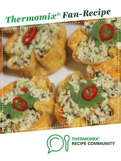 Recipe Spicy Thai Chicken Cups by Rebecca Hill, learn to make this recipe easily in your kitchen machine and discover other Thermomix recipes in Starters. Wonton Cups, Spicy Thai, Thai Chicken, Recipe Community, Fish Sauce, Food N, Spicy Recipes, Lemon Grass, Starters