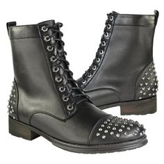 Xelement Mens Studded Leather Boots - 9 1/2