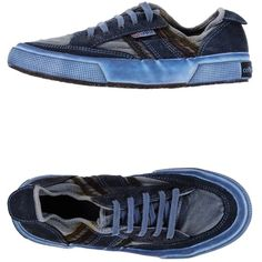 Superga Sneakers (400 ILS) ❤ liked on Polyvore featuring shoes, sneakers, blue, blue leather sneakers, blue sneakers, leather sneakers, blue shoes and round toe flat shoes