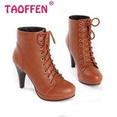 Mulheres Botas de salto alto Botas moda inverno Sexy quente de pele Botas de salto sapatos calçados P1962 EUR tamanho 34 - 39 alishoppbrasil