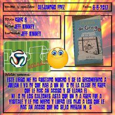 Otra recomendación de Alejandro. Greg ya es como de la familia ;-) Jeff Kinney, Baseball Cards, Sports, Diary Book, Hs Sports, Sport