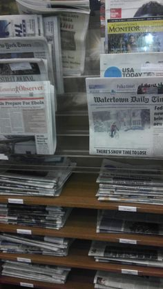 Current newspapers.