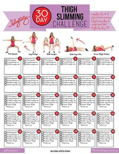 30 Day Thigh Slimming Challenge!   Blogilates: Fitness, Food, and lots of Pilates   Bloglovin'