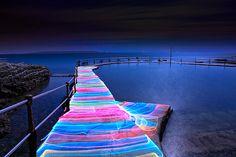 Neon Walkway...how cool is that!