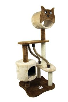 50' Special Cat Tree House Furniture Playhouse Pet Bed Kitten Toy Cat Tower Condo for Cats Kittens (Beige and Brown) from FLA -- Awesome cat product. Click the image : Cat condo