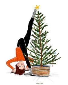 64 Trendy Ideas Fashion Illustration Watercolor Tutorial To Draw Tree Illustration, Christmas Illustration, Illustration Artists, Watercolor Girl, Instagram Christmas, Christmas Mood, Watercolour Tutorials, Christmas Wallpaper, Christmas Decorations To Make