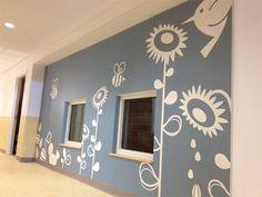Blue wallpaper design idea, using simple 2-color palette