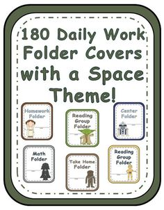 Elementary Work Folders / Daily Folders Covers ~ Space Theme ~ 180 Pages! * 180 pages of different work folder covers. Each folder comes in all six characters. Use one space character for your hig. Space Theme Classroom, Star Wars Classroom, 3rd Grade Classroom, Classroom Organization, Classroom Ideas, Classroom Management, Disney Classroom, Class Management, Organization Ideas