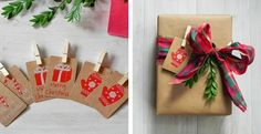 Gift Tags with Clothespins | Jane