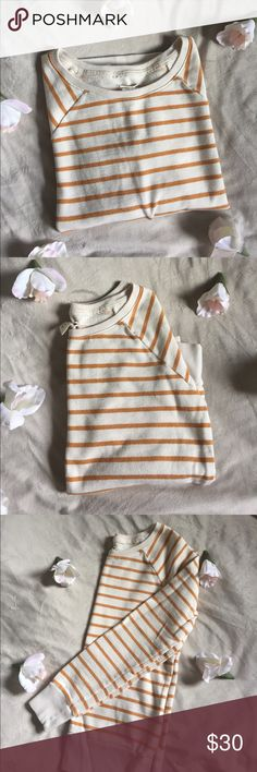 Levi's Striped Crewneck Sweatshirt Levi's Striped Crewneck 💋Orange Striped 💋Soft Knit Fleece 💋Excellent Condition  💋Also available in Plum Striped  👍Like the Item but not the Price?  🤝Make an Offer! 🛍🛍Bundle Items to Save 10% !!! 🤔Any Questions? Just Ask! Levi's Tops