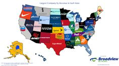 A map of the largest corporations in each state