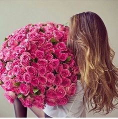 Huge bouquet of roses!