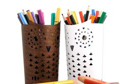 Owl pencil holders