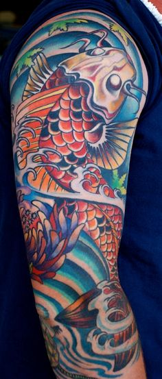 Koi Fish Sleeve.. personally not a Koi fan, but this rocks!