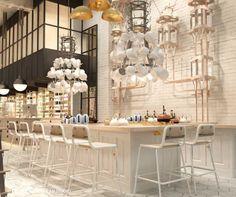 Collage de estilos en Artte: un espacio gastrocultural en Barcelona diseñado por Lárazo Rosa-Violán.