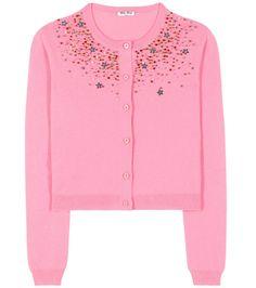 MIU MIU Embellished Cashmere Cardigan. #miumiu #cloth #cardigan