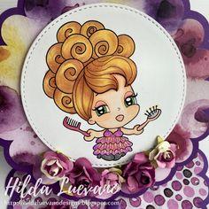 Hilda Designs: Tarjetas Coquetas Rita y Hanna, Alicia Bel