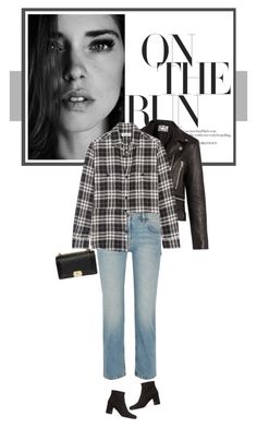 """I think I'm cool. That's all that matters."" by mariots22 ❤ liked on Polyvore featuring Yves Saint Laurent, Acne Studios, The Row and Prada"