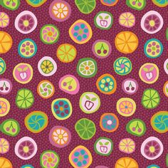 """Candy is Dandy""-fabric by   Groovity on Spoonflower - custom fabric designed by Mary Tanana"