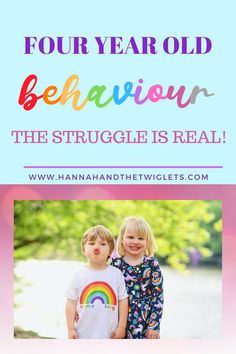 Dealing with the behaviour of a four year old can be a bit of a challenge. So dealing with two at once is pretty intense! The struggle is real!  #hannahandthetwiglets #fouryearsold #childbehaviour #twins Parenting Styles, Gentle Parenting, Parenting Advice, Kids Behavior, Child Behaviour, Four Year Old, Attachment Parenting, Struggle Is Real, Children With Autism