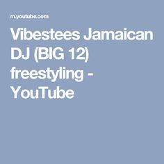 Vibestees Jamaican DJ (BIG 12) freestyling - YouTube