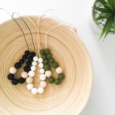 These beautiful necklaces are 10% off this week.. they are funky and super practical for new Mums as they are also teether necklaces made with eco wood and silicone beads. To find this search 'EVIE' on dtll.com.au (link in profile) #soother #comforter #ba