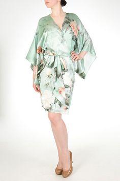 Anastasia Silk Print Kimono Night Gown 6827f8cb4