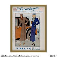 1930s Fashion Ad from a Dutch magazine 1933 Print