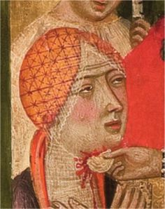 1363-1375. Retablo de la Virgen. Maestro de Sigena (probablemente de Pedro Serra), Museo Nacional de Arte de Cataluña, Barcelona (detalle)