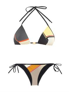 Maxi F colour-block bikini | Fendi | MATCHESFASHION.COM