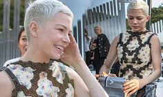 Michelle Williams slid on an elaborately designed cocktail dress to swung by the Louis Vuitton Resort 2018 show at the Miho Museum in Koka, Japan on Sunday.
